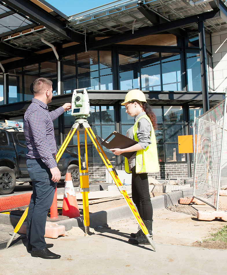 Licensed Surveyors working onsite
